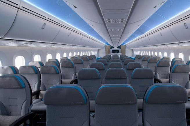 larege jets: jumbo jet interior