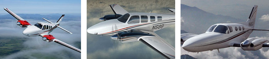 Twin Piston Private Jet