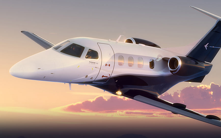 Embraer Phenom 100 available for very light aircraft charter