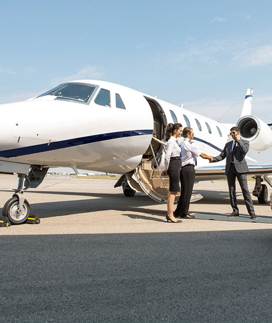 Private plane business travel
