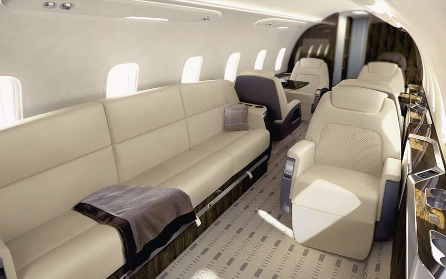 Bombardier Challenger 350 interior cabin