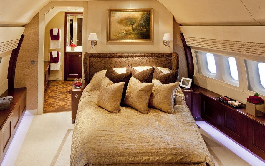 Boeing Business Jet bedroom