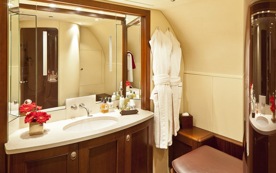 BBJ Boeing 737 Business Jet Bathroom
