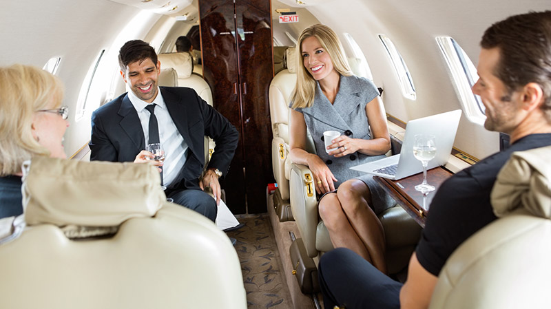 Private jet business travel