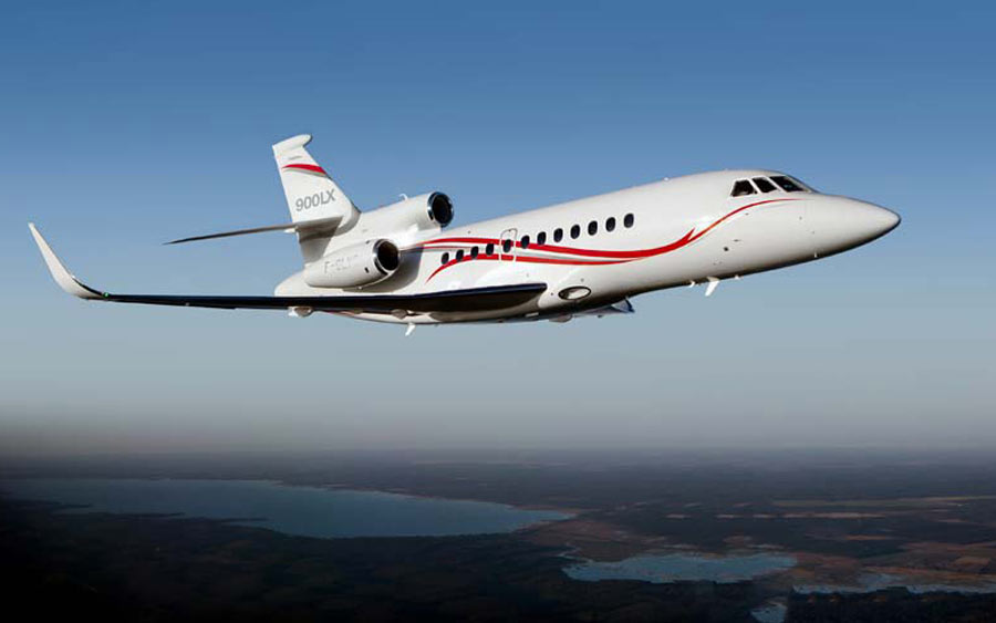 top 10 business jets - Dassault Falcon 900LX