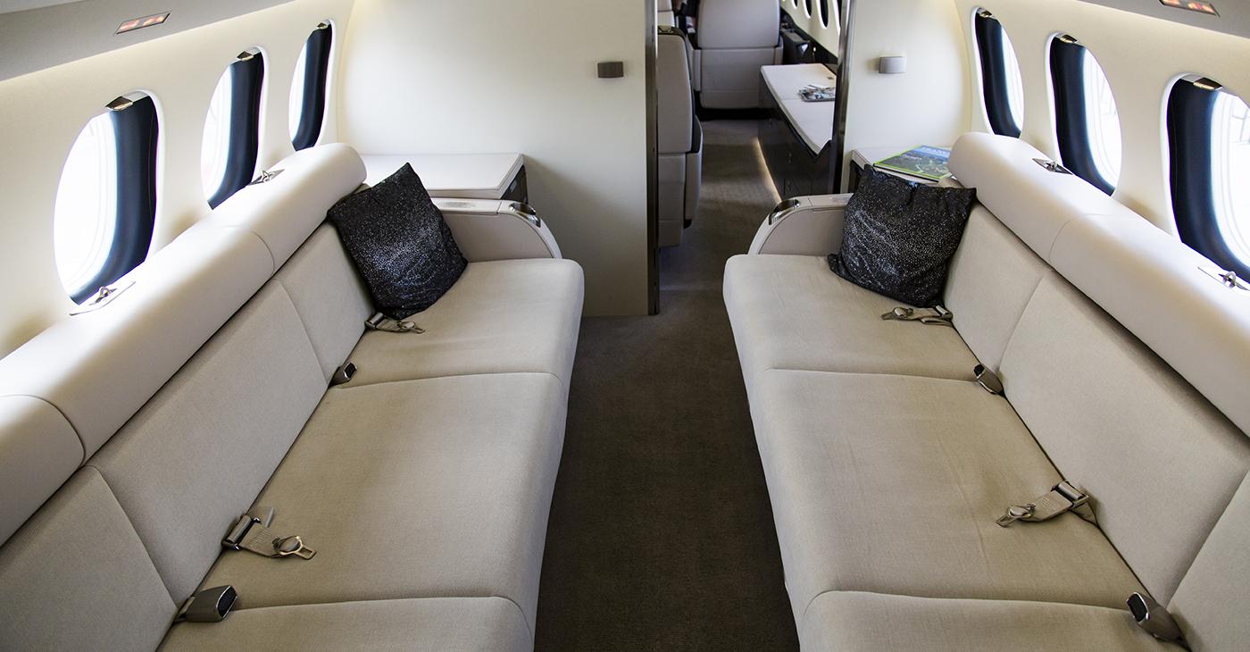 charter plane seating